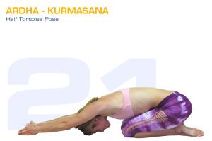 Ardha-Kurmasana